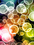 Glowing bubbles Royalty Free Stock Image