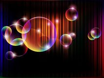 Glowing bubbles, vector Stock Photo