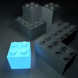 Glowing Building Block Royalty Free Stock Images
