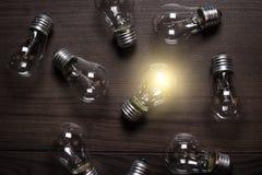 Glowing bulb Stock Image