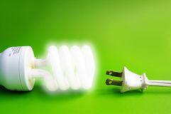 Glowing bulb Stock Photography