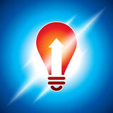 Glowing bulb in bluish light Royalty Free Stock Photography
