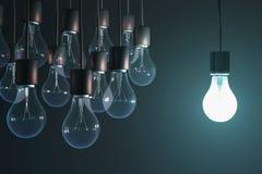 Glowing bulb Stock Photo