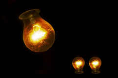 Glowing bulb Stock Images