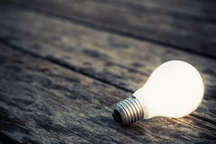 Glowing bulb Royalty Free Stock Images