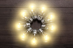 Glowing bulbs Royalty Free Stock Photography