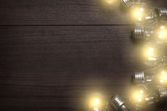 Glowing bulbs background Royalty Free Stock Photography
