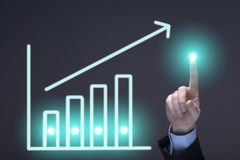 Glowing business chart Royalty Free Stock Images