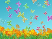 Glowing butterflies Royalty Free Stock Photography