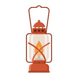 Glowing Camping Lantern Royalty Free Stock Images