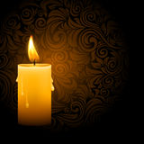 Glowing candle Royalty Free Stock Photography