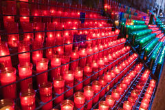 Glowing candles Stock Photo