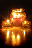 Glowing Candles Stock Images