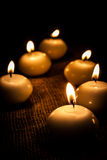 Glowing candles Stock Image