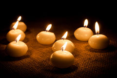 Glowing candles Royalty Free Stock Images