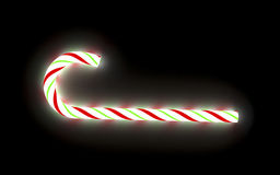 Glowing candy cane. 3d render of a glowing christmas candy cane Royalty Free Stock Photography
