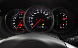 Glowing Car Dashboard Royalty Free Stock Photography