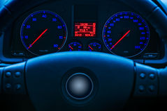 Glowing car dials Royalty Free Stock Image