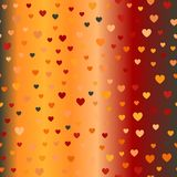 Glowing chaotic heart pattern. Seamless vector background Stock Image