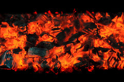 Glowing charcoals Royalty Free Stock Image