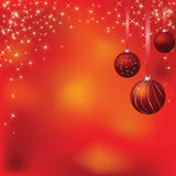 Glowing christmas background Stock Photos