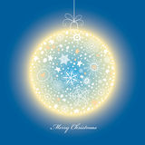 Glowing Christmas Ball Royalty Free Stock Photos