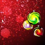 Glowing christmas balls Stock Photography
