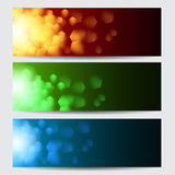 Glowing christmas banners. Glowing colorful christmas banners. EPS10 vector Stock Photography