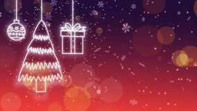 Glowing christmas decoration looping background. Glowing christmas decoration looping animation background stock video
