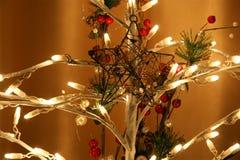 Glowing Christmas electric garland,  closeup Stock Photography