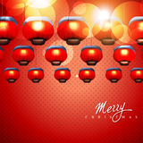 Glowing christmas lamps Stock Photography