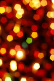 Glowing Christmas light Stock Images