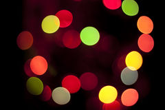 Glowing Christmas lights. And tree Stock Photography