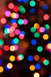 Glowing Christmas lights background Stock Photo