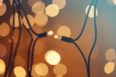 Glowing Christmas lights Stock Images