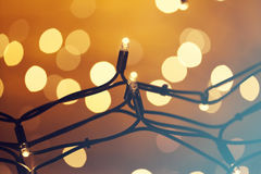 Glowing Christmas lights Royalty Free Stock Photo