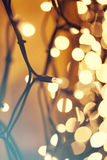Glowing Christmas lights Royalty Free Stock Image