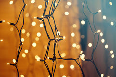 Glowing Christmas lights Royalty Free Stock Images