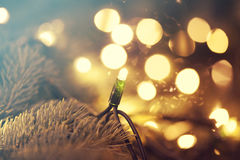 Glowing Christmas lights Royalty Free Stock Photos