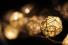 Glowing Christmas ornaments. The Christmas ornaments make the holidays more cozy and intimate royalty free stock photos