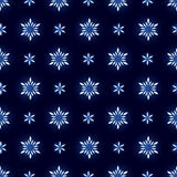 Glowing christmas snowflakes seamless background Royalty Free Stock Images