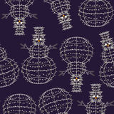 Glowing Christmas snowman pattern Royalty Free Stock Photo