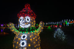 Glowing Christmas snowman Royalty Free Stock Photography