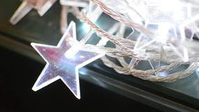 Glowing Christmas Star Ornament stock video