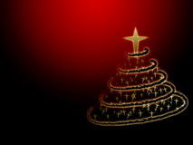 Glowing Christmas tree Royalty Free Stock Photo