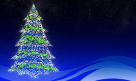 Glowing Christmas tree Stock Image