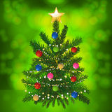 Glowing Christmas tree Royalty Free Stock Photography