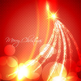Glowing christmas tree. Vector glowing artistic christmas tree background Stock Photos