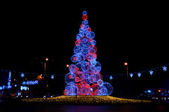 Glowing christmas tree Royalty Free Stock Images