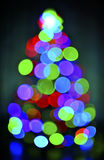 Glowing christmas tree Stock Image
